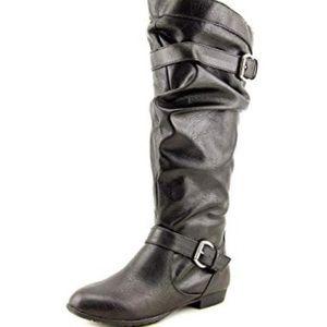 Rampage Black Basking Riding Boots